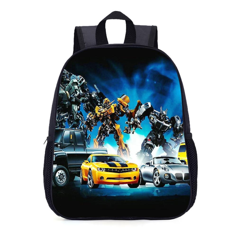 School Bags Transformation Car Robot Cartoon Backpack Travel Bumblebee Optimus Prime Megatron Decepticons School Supplies Gifts
