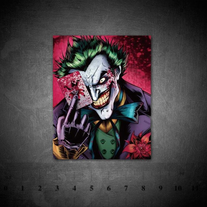 DC Villain Joker Clown Graffiti Stickers Waterproof Vinyl PVC For Laptop Helmet Bicycle Luggage Car