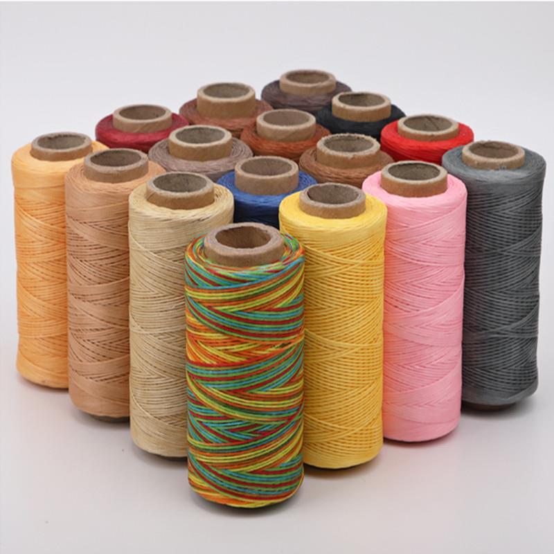 Кожа вощеная нить шнур 150D 50 м воск шнур инструмент для ремесленного пошива DIY ручной работы кожаные изделия вощеная нить плоская швейная лин...