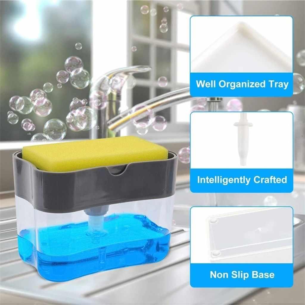 متعددة الوظائف موزع الصابون الإسفنج العلبة غير سامة عديم الرائحة موزع رف مطبخ الحمام الإبداعية غسل صندوق تخزين الصابون