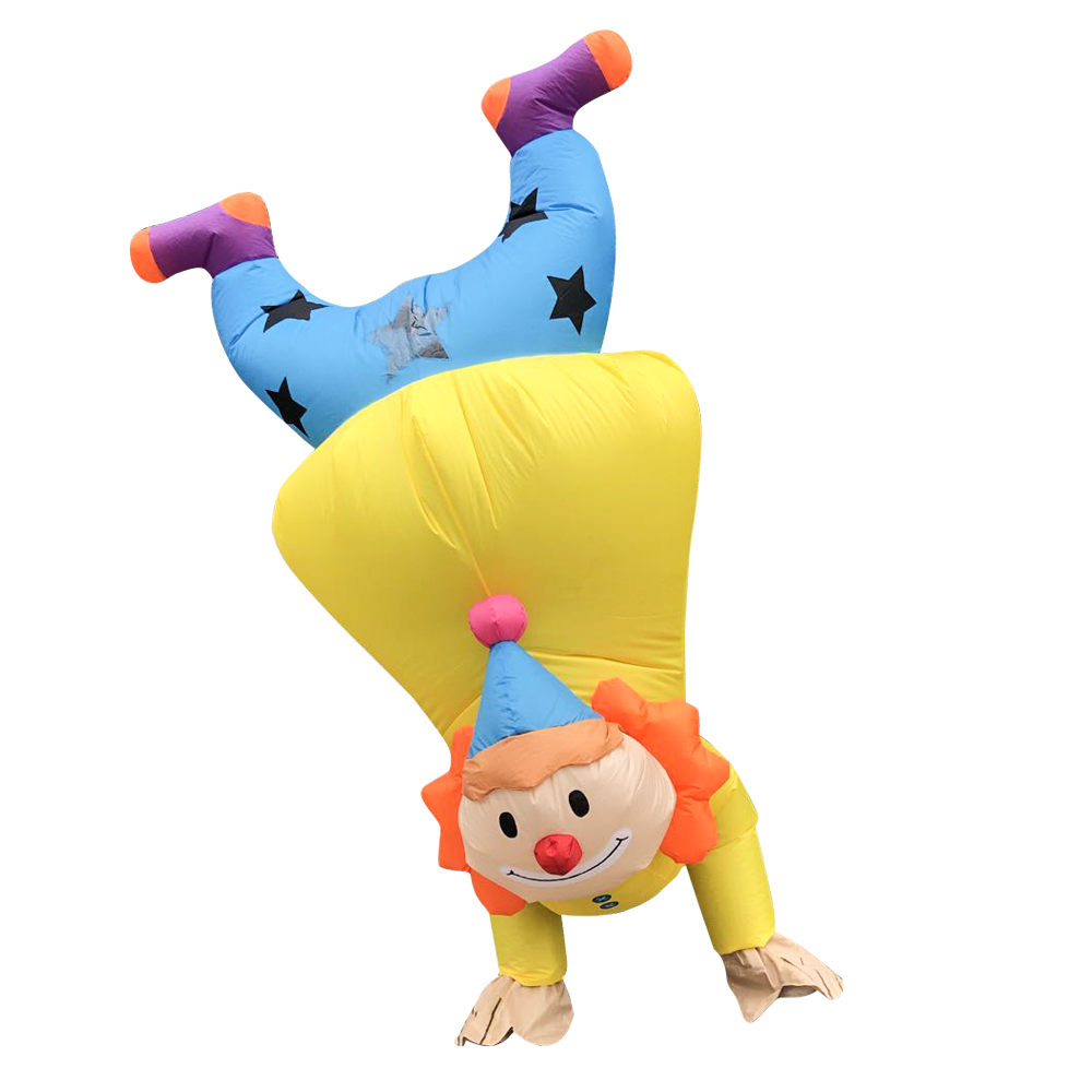 New Blow Up Handstand Clown Inflatable Costume Funny Halloween Costumes For Adult Christmas Suit Cosplay Party Game Clothing