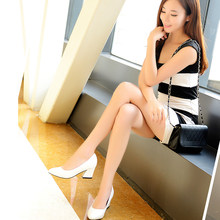 Pumps women shoes pointed toe heels office ladies shoes slip on fashion med heels dress women pumps shoes zapatos de mujer pumps(China)