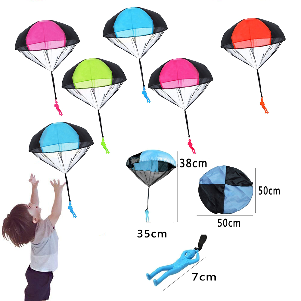 2pcs Hand Throwing Mini Soldier Parachute Funny Toy Kid Outdoor Game Play Educational Toys Fly Parachute Sport For Children Toy