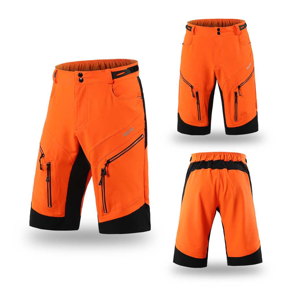 Arsuxeo dh downhill ciclo shorts solto ajuste esportes ao ar livre mtb dos homens de bicicleta montanha shorts ciclismo calças curtas