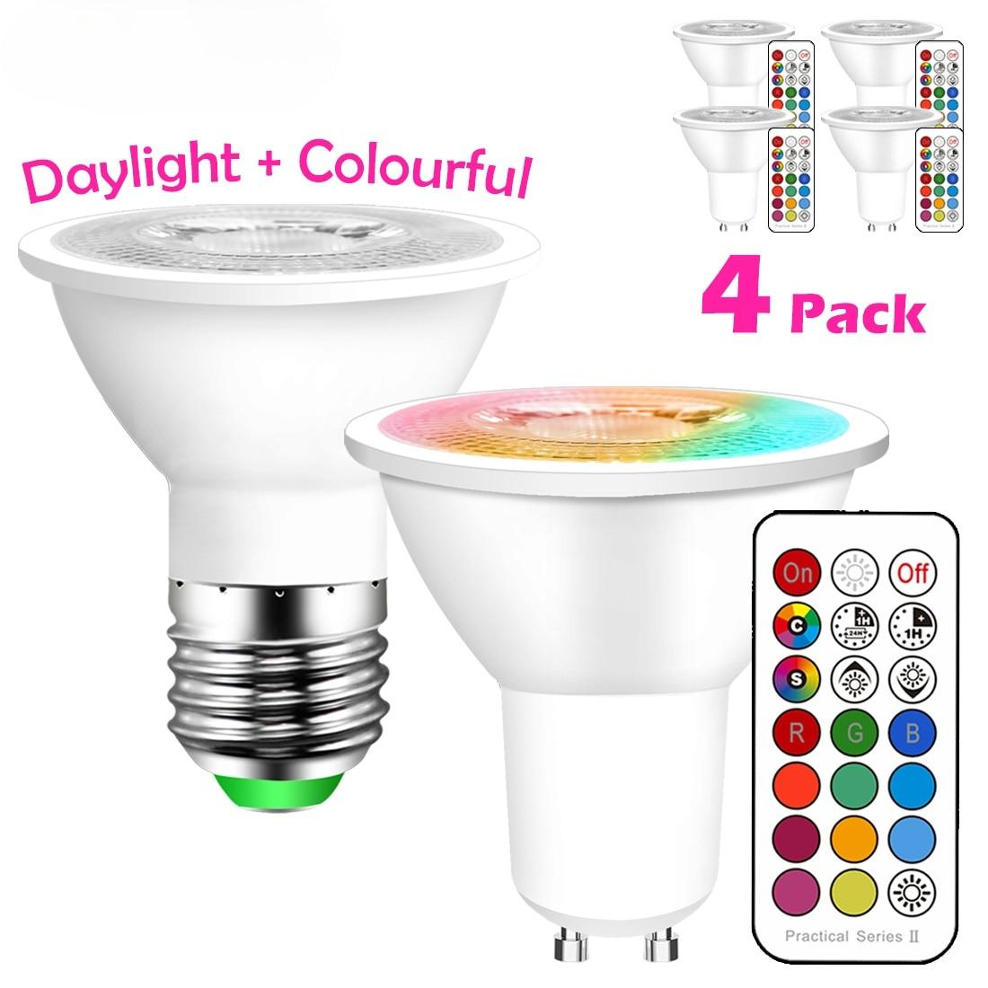 GU10 Светодиодная лампа E27 умный светильник лампочка Цвет Точечный светильник неоновая вывеска для организаций и магазинов RGB ленты с контрол...