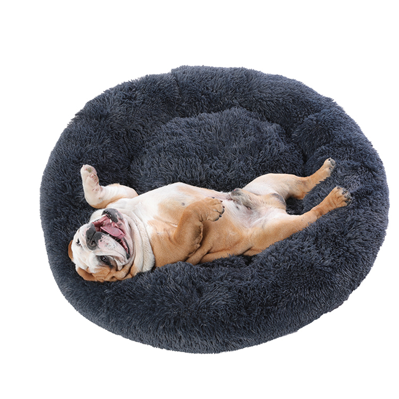 Super Large Dog Bed Round Washable Pets Bed Winter Warm Sleeping Plush Dog Kennel Cat Mats Puppy Cushion Mat Dog Cat Supplies 2