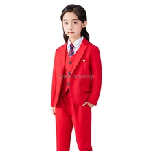 Brand Girls Suit for Weddings Flower Girls Tuxedo Formal Blazer