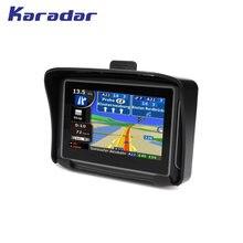 KARADAR nuevo impermeable navegador GPS para motocicleta de 4,3 pulgadas con 360 grados de manillar pantalla táctil resistiva 8G flash