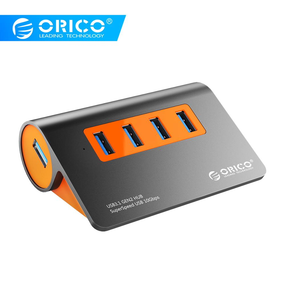 ORICO USB3.1 Gen2 HUB Aluminum USB HUB PC Splitter 10Gbps Super Speed With 12V Power Adapter For Samsung Galaxy S9/S8/Note