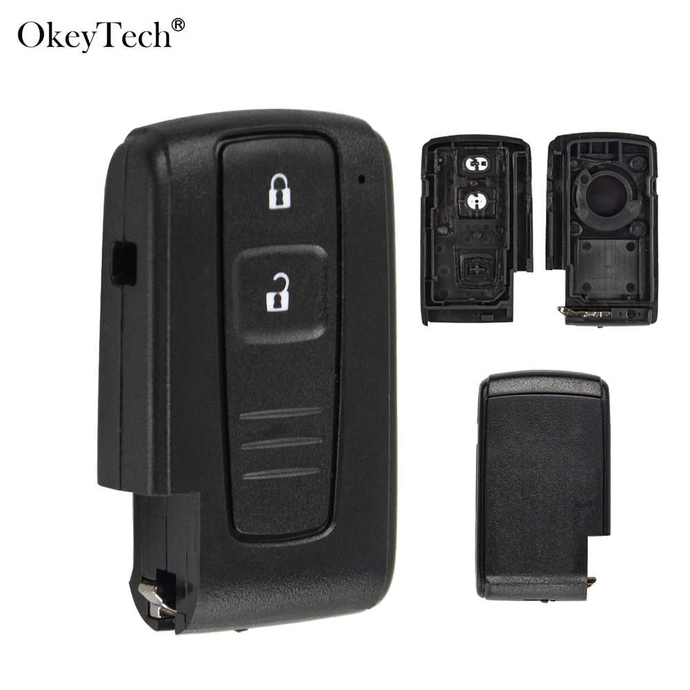 Okeytech Nieuwe 2 Knoppen Smart Remote Autosleutel Shell Case Cover Voor Toyota Prius 2004 2005 2006 2007 2008 2009 corolla Verso Camry