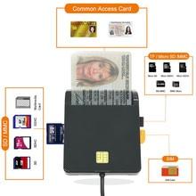 USB ATMCACSIM DNI IC Sim Smart Card reader2.0 SD TF For Bank Card IC/ID EMV MMC USB-CCID ISO 7816 for Windows