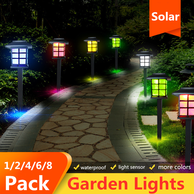 Garden Lights Led Solar Pathway Lights Waterproof Outdoor Solar Lamp for Garden/Landscape/Path/Yard/Patio/Driveway/Walkway