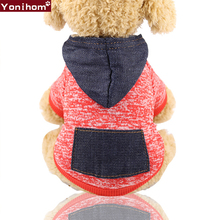 Dog Clothes Small Hoodie Soft Fleece Coat Chihuahua Sweatshirt French Bulldog Warm Puppy For XS-XXL