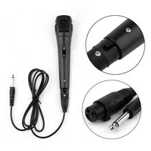 Professional Wired Dynamic Microphone Vocal Mic With XLR To 6.35mm Cable For Karaoke Recording Portable Audio Video