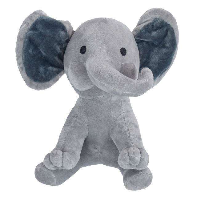 25cm Cute Gray Pink Elephant Appease Plush Toys Soft Stuffed Animal Dolls baby Kids Girl Playmate Present birthday Xmas Gift