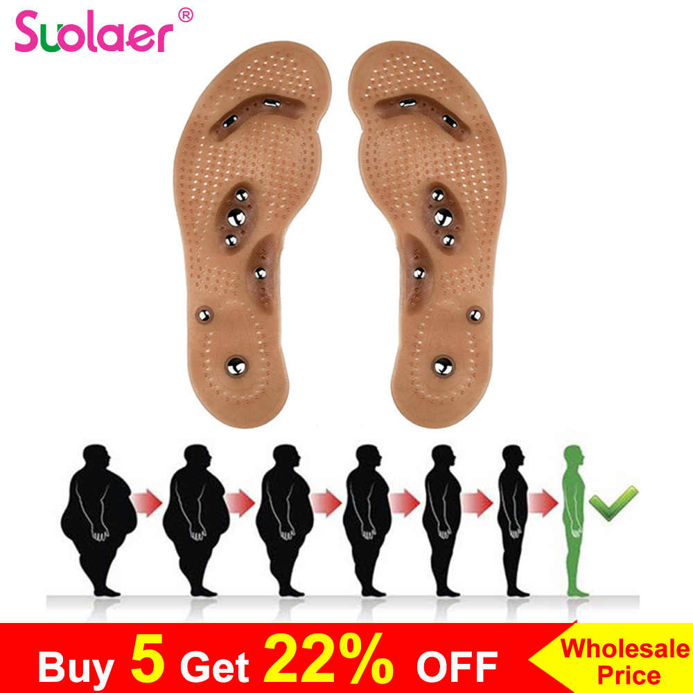 Body Detox Afslanken Magnetische Voet Acupunctuurpunt Therapie Binnenzool Kussen Massager Brioche Comfort Massage Shoe Pads Therapie