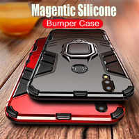 Luxury Armor Magentic Silicone Phone Case For Xiaomi Redmi Note 7 4X 5 Plus 6 Pro Shockproof Cover For Redmi 7A 6A Car Ring Case