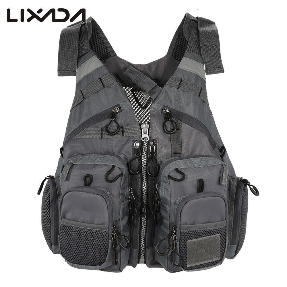 Outdoor Breathable Fishing Life Vest Superior  Bearing Life Safety Jacket Swimming Floatation Waistcoat  Vest For Pesca