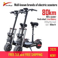 60V3200W 11inch Off Road Fat tire Dual Motor Wheel Powerful Electric Scooter e scooter Foldable Adults Scooters Long Hoverboard|Electric Scooters|Sports & Entertainment -