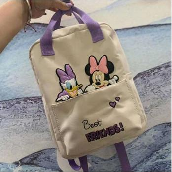 Disney Minnie Mouse Children's bag Cartoons backpack Mickey Backpack School Bag for Boys Girl - discount item  32% OFF School Bags