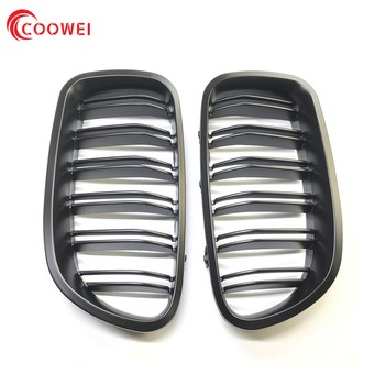 Matt / Gloss Black Kidney Grill Racing Grille Dual Line For BMW F10 F11 F18 5 Series M5 image