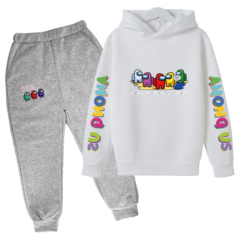 4-14 Y Girls Clothing Among Us Sets Autumn Winter Boys Girls Clothes Printing Outfit Kids Print Tracksuit For Boys Children Set 5