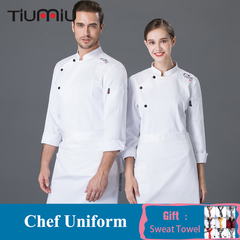 Unisex Master Chef Jacket Hotel Chef Waiter Uniform Food Service Kitchen Top Restaurant Bakery Barber Catering Cooking Clothes