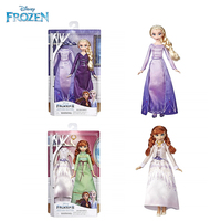 36cm Disney Frozen 2 Snow Queen Toys Fashions Elsa Anna Anime Dolls with 2 outfit Nightgown Dress Christmas Gifts For Kids Girls