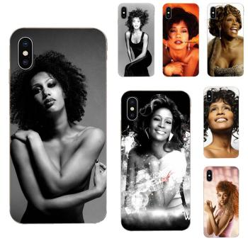 TPU Phone Sexy Singer Whitney Houston For Apple iPhone 4 4S 5 5C 5S SE SE2 6 6S 7 8 11 Plus Pro X XS Max XR image