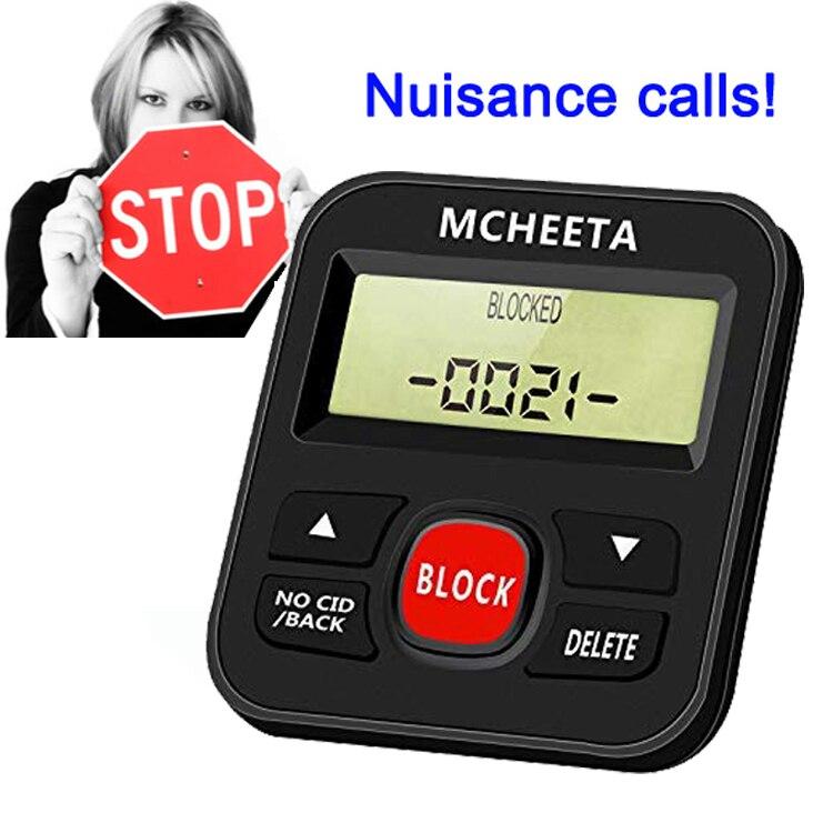 Call Blocker for Landline Phones, Nuisance Phone Blocker with Big Block Button. Robo Call Blocking Device, Block All Sales Calls
