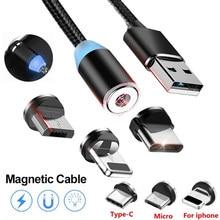 Magnetyczny kabel USB do szybkiego ładowania danych dla Samsung A10 A20 A30 A50 A70 M10 Honor 10 20 Lite 8X 8C 8A dla iPhone XS MAX przewód