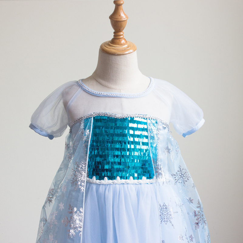 Toddler Party Dresses for Baby Girls Performance Dance Cosplay Princess Dresses With Short Sleeves Flower Girl Birthday Dresses