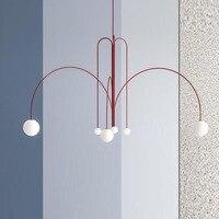 Art Deco Glass Ball Chandelier Lighting Modern Living Room/Bedroom/Restaurant/hotel Suspension/Hanging Lamp Nordic Light Fixtur