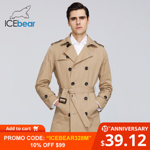 ICEbear 2020 New men's trench coat high-quality men's long lapel windbreakers men's brand clothing MWF20709D(China)