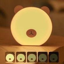 Светодиодный ночник little bear с сенсорным датчиком трехуровневый