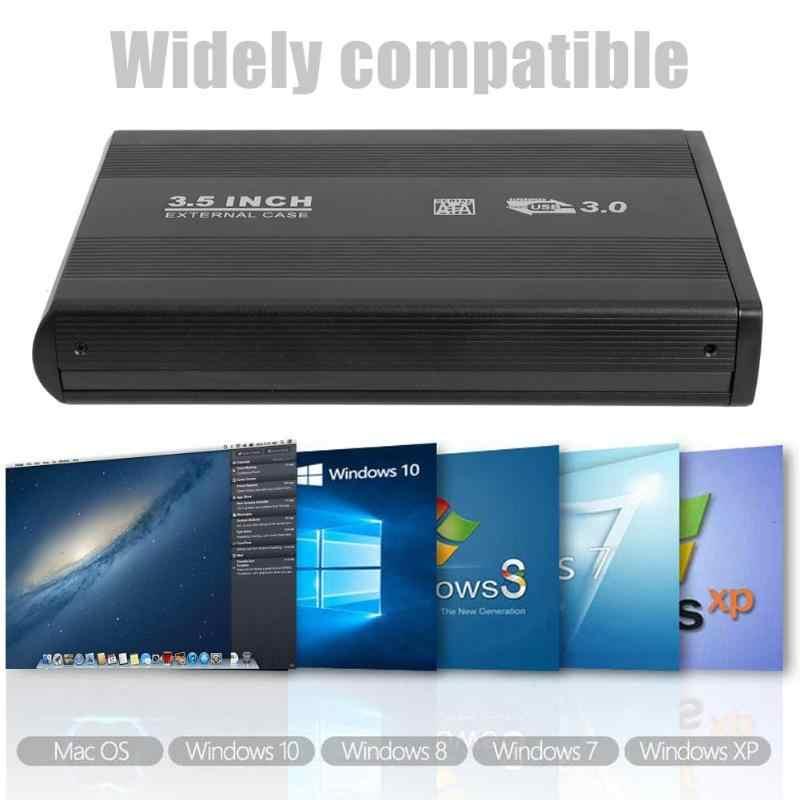 2.5/3.5 pouce USB 2.0/3.0 à SATA Port boîtier ssd Portable 6-Gbps boîtier de disque dur externe boîtier de disque solide pour Windows/Mac