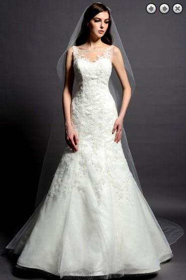 Free Shipping New Fashion 2017 Hot Bridal Dress Bride Gown Long Dress Plus Size Designer Lace Sleeveless Wedding Dress Mermaid