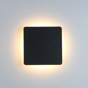 Image 2 - Indoor LED Wall Lamp Living Room Decoration Wall Light Home Lighting Fixture Loft Stair Light Round/Square Aluminum AC90 260V