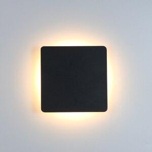 Image 2 - داخلي وحدة إضاءة LED جداريّة مصباح غرفة المعيشة الديكور الجدار ضوء المنزل تركيبة إضاءة Loft أضواء لدرجات السلم مستديرة/مربع الألومنيوم AC90 260V