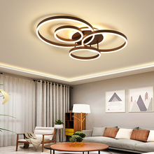 modern led chandelier lighting circle lights for Interior design engineering acrylic ceiling LED ring lamp