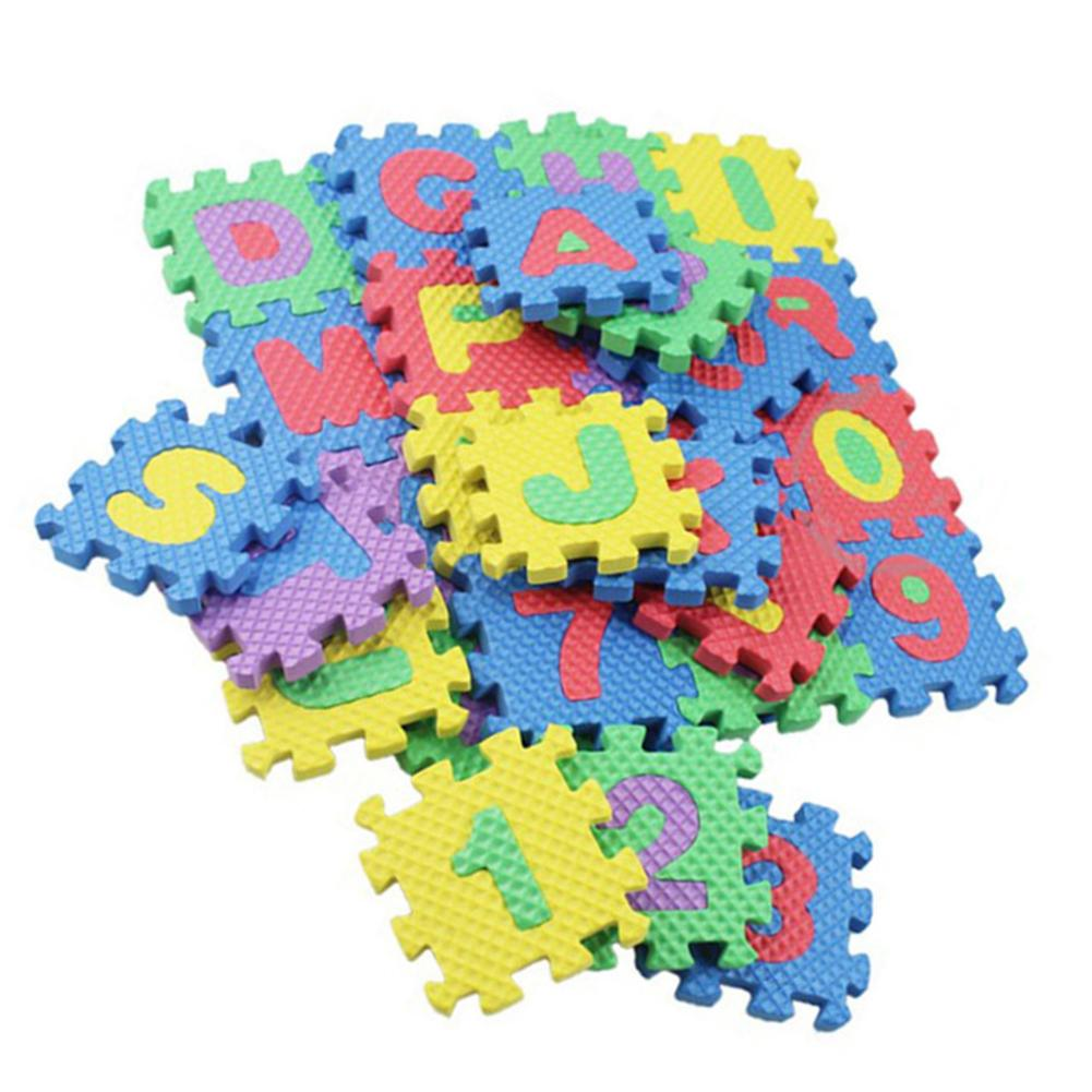 36PCS Foam Floor Mats Children's Cartoon Alphanumeric Crawling Baby 6*6cm Puzzle Play Mat Rugs Toys Exercise Tiles Floor Carpet
