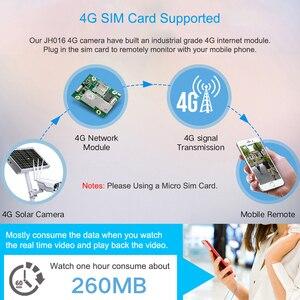 Image 2 - Jimi JH016 IP kamera 1080p 4G ağ ile şarj edilebilir pil enerjili GÜNEŞ PANELI Wifi kamera Full HD güvenlik kamera açık