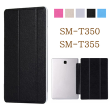 цена на Tablet case for funda Samsung Galaxy Tab A 8.0 2015 case SM-T350 SM-T355 t350 t35 leather flip cover stand case protective shell