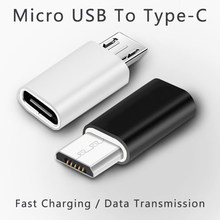 Mini OTG Micro USB To Type C Jack Adapter Phone Charging Data Transmission 2 In 1 Converter Android Mobile Micro USB Splitter(China)