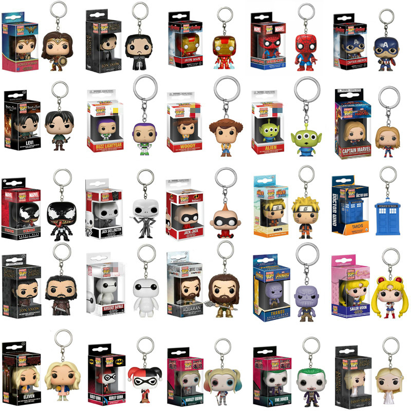 funko-pop-font-b-marvel-b-font-hulkbuster-keychain-spiderman-captain-game-of-thrones-action-figure-thor-toy-pvc-model-doll-for-birthday-gift
