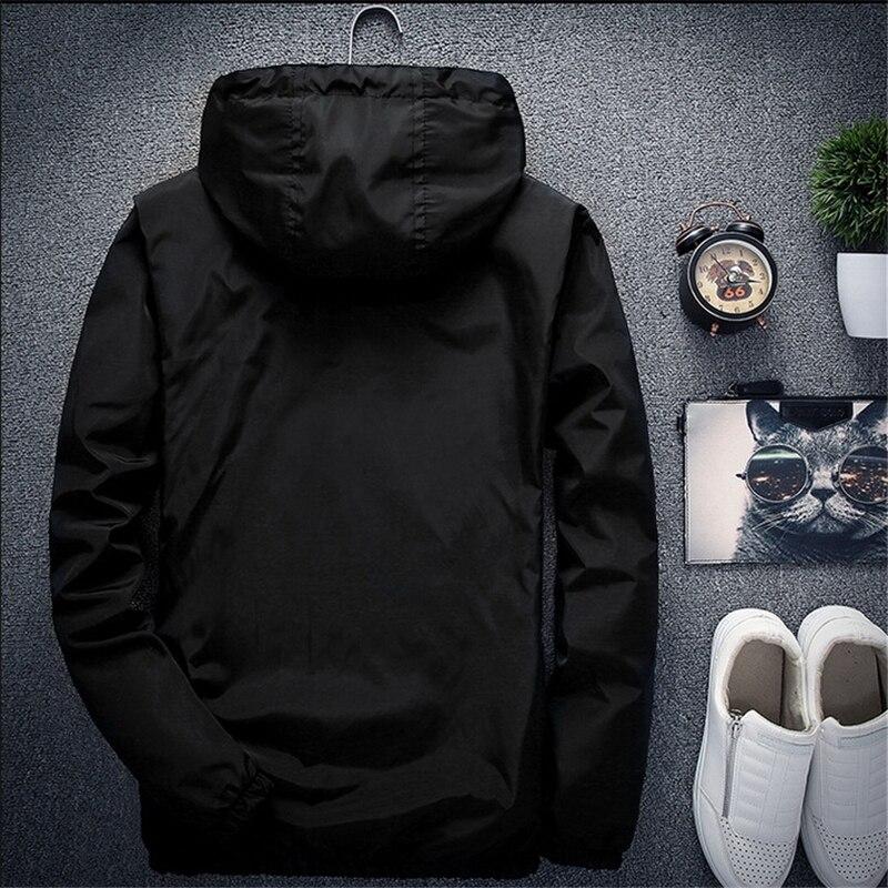 Men Autumn Bomber Jacket Women Casual Solid Windbreaker Zipper Thin Hooded Coat Slim Fit Pilot Jacket Outwear Male Plus Size 7XL 6