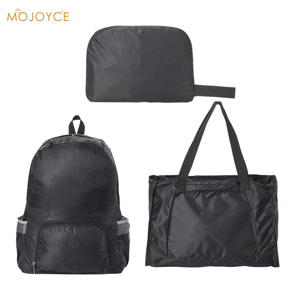 Comfortable Foldable Waterproof Backpack Multi-function Outdoor Leisure Chic Fashionable Travel Camping Shopping Bags