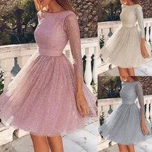 Top sprzedaży eleganckie sukienki dla kobiet 2021O-Neck Harajuku ślubna sukienka damska Party wieczorowa Mini sukienka z koronką vestido de mujer