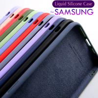 Custodia in Silicone liquido originale per Samsung Galaxy S7 S8 S9 S10 S20 S21 nota 10 20 Plus A11 A01 A71 A51 A50 A30 A70 A31 A41 Coque