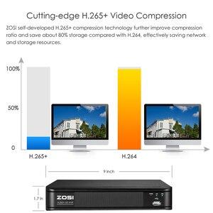 Image 3 - ZOSI 5MP CCTV חיצוני Nightvision IP אבטחת מצלמות מעקב וידאו אבטחת מצלמה מערכת POE H.265 8CH NVR ערכת HDD
